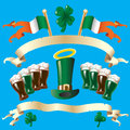 Banner for St. Patricks Day with green beer Stock Photography