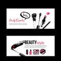 Banner templates for makeup artist