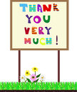 Banner Thank you very much! Vector illustration Royalty Free Stock Photo