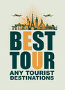 Banner for traveling with architectural landmarks