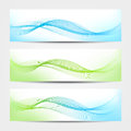Banner water waves three elegant banners with representing or purity Stock Photo