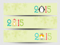 Banner or web header for New Year and Merry Christmas celebratio Royalty Free Stock Photo