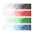 Banners with black blue red white green arrow. Royalty Free Stock Photo