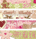 Banners with Christmas cookies Royalty Free Stock Photo