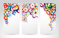 Banners with colorful rainbow elements Royalty Free Stock Photo