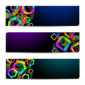 Banners with colorful shapes Stock Images