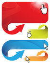 Banners with cursors Stock Photography