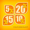 Banners with discount four various of and text vector illustration Stock Images