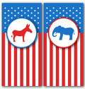 Banners with Donkey and Elephant as a Symbols Vote of USA. United States Political Parties Royalty Free Stock Photo