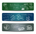 Banners with Doodles Royalty Free Stock Photography
