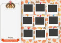 3 Banners Foliage Thanksgiving Turkey 9 Pics Royalty Free Stock Photo