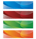 Banners in halftone and gradient Royalty Free Stock Photo
