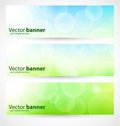 Banners and headers abstract lights Stock Image