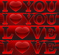 Banners _I Love You_ Stock Images