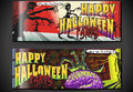 Banners invite for halloween party detailed illustration of a poster with zombies illustration in eps with color space in rgb Stock Photo