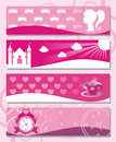 Banners Little Princess Stock Photos