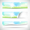 Banners with natural colors Royalty Free Stock Image