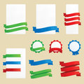 Banners ribbons and badges a set of ai eps no mesh no gradients no transparencies Royalty Free Stock Photography