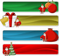 Banners of Santa-Claus on Christmas time Stock Images