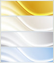 Banners set of abstract background banner Stock Photography
