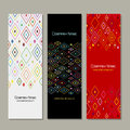 Banners set, abstract geometric design