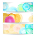 Banners set of horizontal with spots paint Stock Image