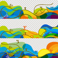Banners set Olympic games 2016 wallpaper Royalty Free Stock Photo