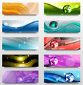 Banners set of ten abstract isolated on a white surface Stock Photo