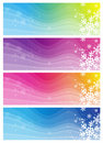 Banners with snowflakes Royalty Free Stock Photos