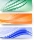 Banners three abstract easy to edit vector Stock Photography