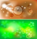 Banners two abstraction picture can be use as backgrouns vector eps Royalty Free Stock Photo