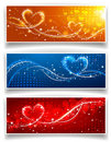 Banners on Valentine s Day Stock Photography