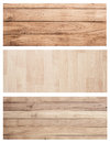 Bannière en bois réglée f de fond de texture de mur de planche de brown de collection Photographie stock