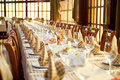 Banquet hall Stock Photography