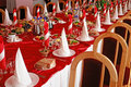 Banquet hall Stock Images