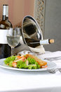 Banquet table setting Seafoods Royalty Free Stock Photography