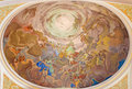 Banska stiavnica the fresco of christ in the glory of heaven scene on the cupola of parish church from cent slovakia february by Royalty Free Stock Photos