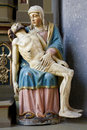 Banska Stiavnica - old wood Pieta Stock Photo