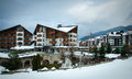 Bansko hotels in bulgaria photo taken on march Royalty Free Stock Photo