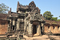 Banteay Samre facade   in Siem Reap,Cambodia Royalty Free Stock Images