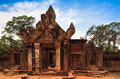 Banteay srei——the most beautiful temple cambodia Royalty Free Stock Photo