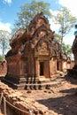 Banteay srei, Angkor, Cambodia. Royalty Free Stock Photos