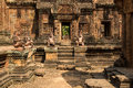 Banteay srei sculptures famous of sandstone Royalty Free Stock Image