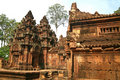 Banteay Srei Temple near Siem Reap Stock Photo