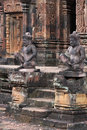 Banteay Srei temple statues Stock Photos
