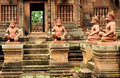 Banteay Srei Wat Stock Photos
