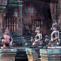 Banteay Srey Temple in Angkor Area, Cambodia Royalty Free Stock Photography
