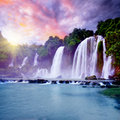 Banyue waterfall Royalty Free Stock Photo