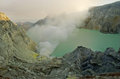 Banyuwangi extracting sulphur inside kawah ijen crater indonesia Royalty Free Stock Photography