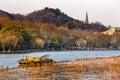 Baochu Pagoda Yellow Boat West Lake Hangzhou Zhejiang China Royalty Free Stock Photo